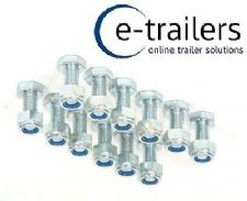 Trailer Suspension Bolt Kit M8 bolts & nuts - 12 pack for 350kg & 550kg Units